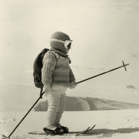 Първите ми стъпки със ски !