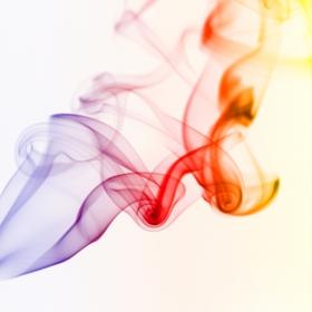 Smoke as rainbow
