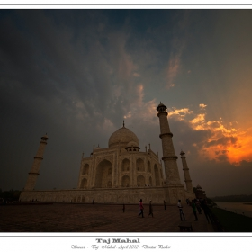 Sunset-Taj Mahal