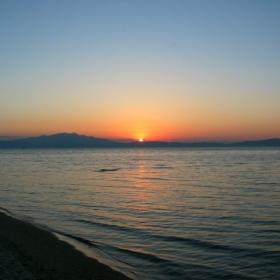 Залез над Кавала (от о.Тасос)