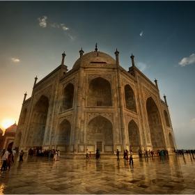 Sunset-Taj Mahal