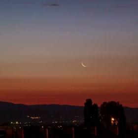 Сутрешна видимост на Меркурий