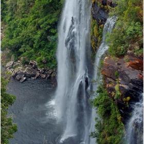 Водопада Lisbon (70 м) на река Blyde в Drakensberg - RSA