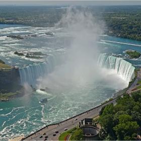 Птичи поглед за финал - Horseshoe Falls, Niagara