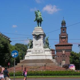 Милано - Паметник на Guiseppe Garibaldi