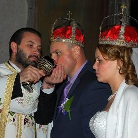 Венчава се Божият раб  с Божията рабиня ....