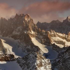 Френски Алпи - 3600м.н.в. - 21 градуса
