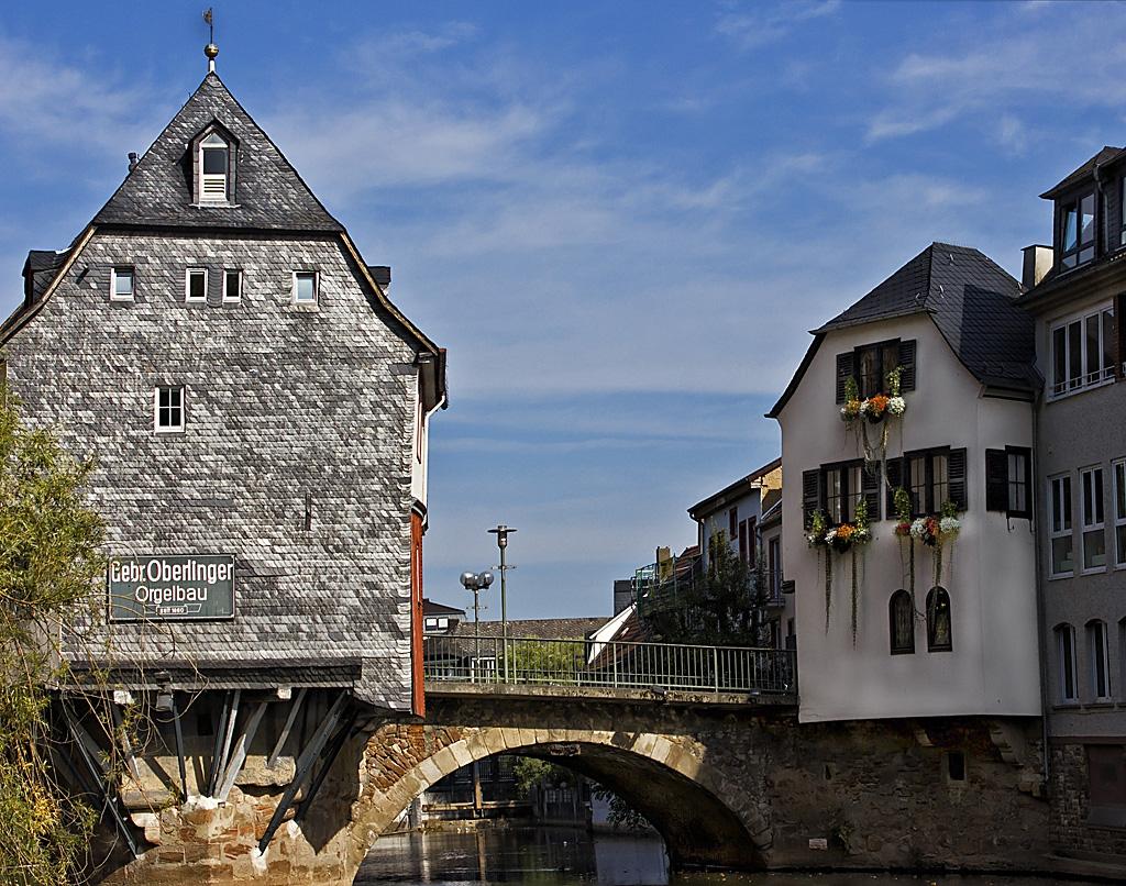Бад Кройцнах- къщите на стария мост