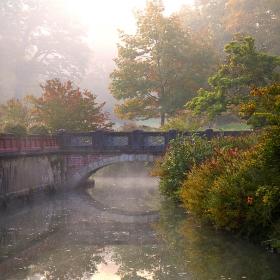 Мъгливо есенно утро, замъкът Schonau II