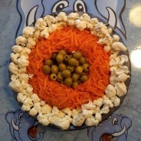 Трицветни салатни кръгове