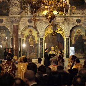 Първата литургия на Н. Св. патриарх Неофит