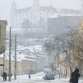 Зима в подножието на Храд (Братислава)