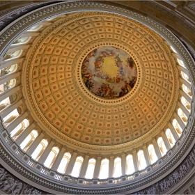Куполът на Капитолия - отвътре