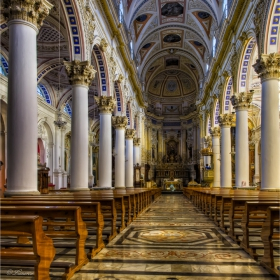 Църквата Св. Петър в Modica (интериор)