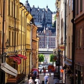 ...по уличките на Стокхолм...