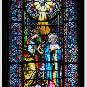Montserrat - Витраж в Базиликата