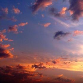 Облаци на залез