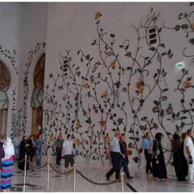 Голямата джамия   - Sheikh Zayed - Декорации от седеф по вътрешните стени