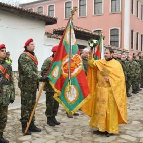 Освещаване на бойното знаме на 61-ва Стрямска механизирана бригада - Карлово на Богоявление