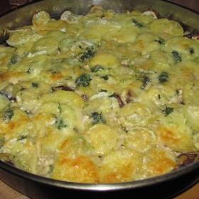 Запеканка с картофи и тиквички
