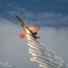 F-18 HORNET отделя топлинни примамки