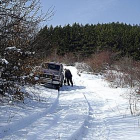 Разходка в снежната планина.