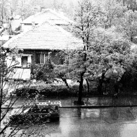 В София зимата се завърна в средата на април, B&W