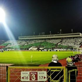 Хореография на мача Лудогорец-Валенсия (стадион Васил Левски)