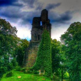 Част от стара френска крепост - гр. Vire, Северна Нормандия