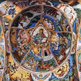 Рилски манастир - Стенопис