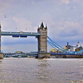 Tower Bridge view from Themse river