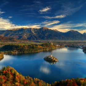 Bled lake... over the autumn...
