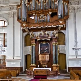 Протестантската църква  Paulskirche  с историческия