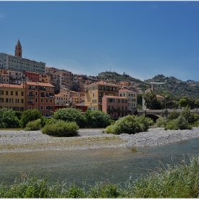 Ventimigliа  - градът в устието на река Roia, Italy
