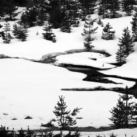 Рисунки в снега...