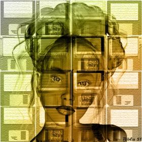 Момичето с дискети