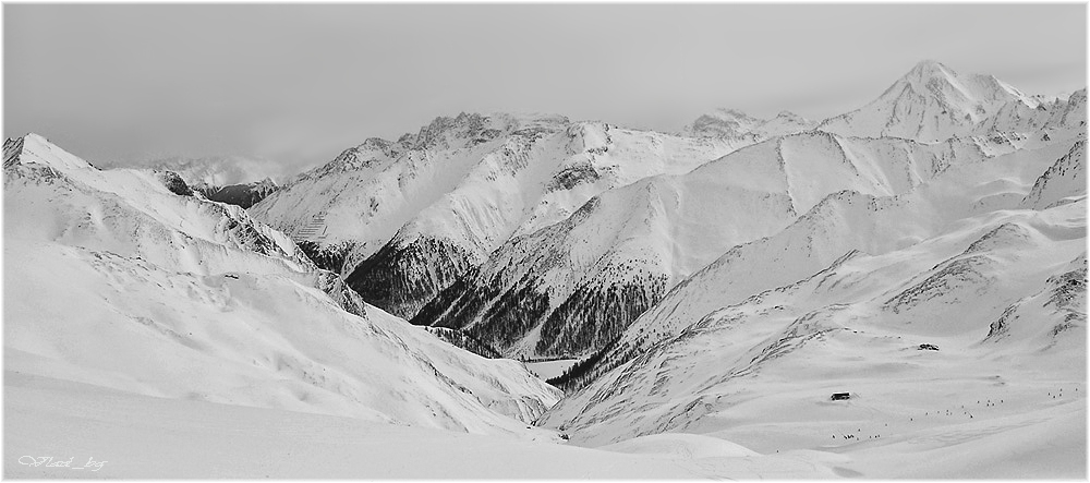Black & White Alpine graphic - 2