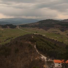 Поглед от крепостта Цепина