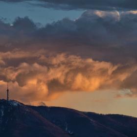 Небето над Витоша - снощният залез