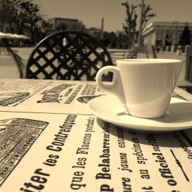 One coffee... one moment...