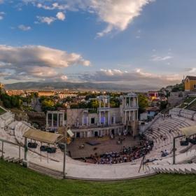 Панорамно от Античния театър