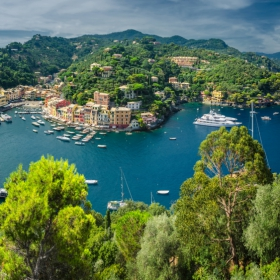 Portofino поглед от Castello Brown