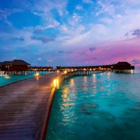 Малдивски залез
