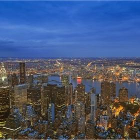 Ню Йорк погледнат от Емпайър Стейт Билдинг