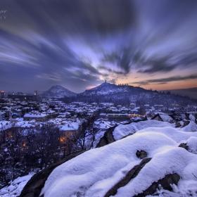 Залез над Пловдив