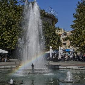 Дъгата на фонтана