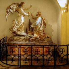 St Michael Kirche -Библейска сцена