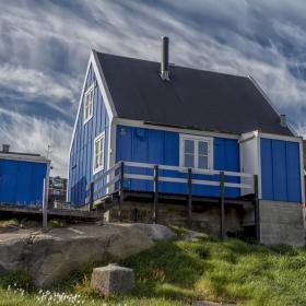 Къщата в синьо! Гренландия.
