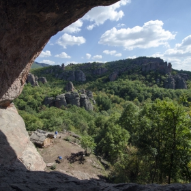 Изглед от пещера Лепеница