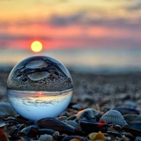 Crystal ball sunrise